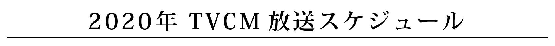 TVCM放送スケジュール